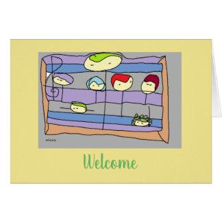 Cartão Dê boas-vindas a um colega de trabalho novo com o