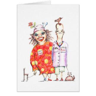 Cartão de Bob e de Claire de Lune