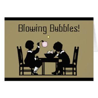 Cartão de bolhas de sopro