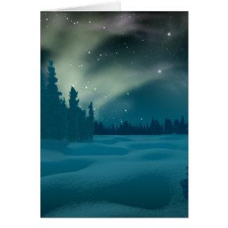 Cartão de Borealis da Aurora