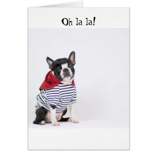 Cartão de Boston Terrier