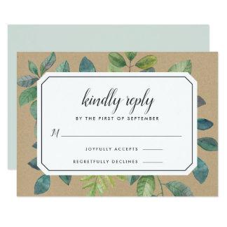 Cartão de Botanica Kraft RSVP