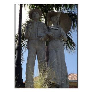 Cartão de Bradenton Florida da estátua de domingo