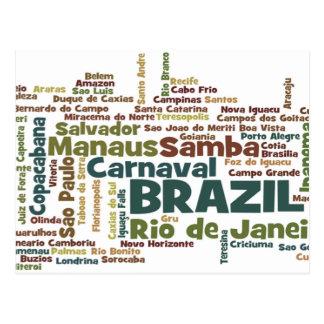 Cartão de BRASIL Cartao Postal