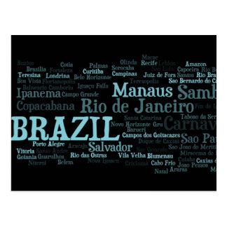 Cartão de BRASIL Cartão Postal