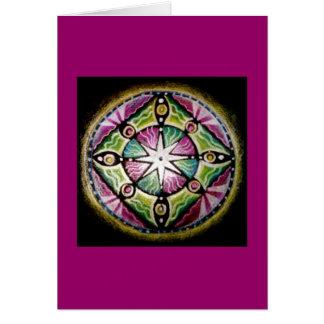 Cartão de brilho da mandala da estrela