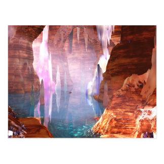 Cartão de brilho das cavernas