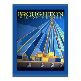 Cartão de Broughton do art deco