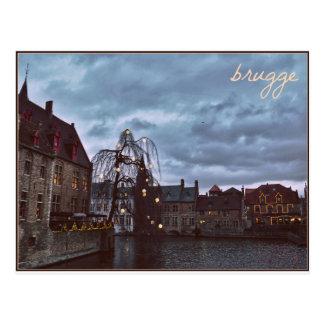 Cartão de Bruges do conto de fadas