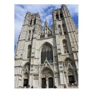 Cartão de Bruxelas Bélgica da igreja de Michaels