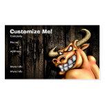 Cartão de Bull/customizável Cartoes De Visitas