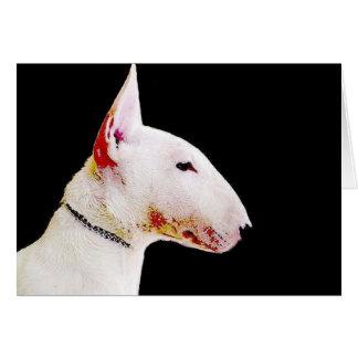 Cartão de bull terrier