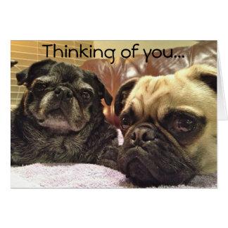 Cartão de Bumblesnot: Pensamento de você