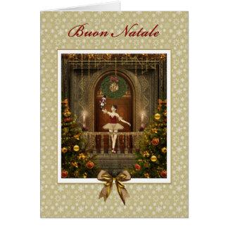 Cartão de Buon Natale do italiano do Nutcracker da