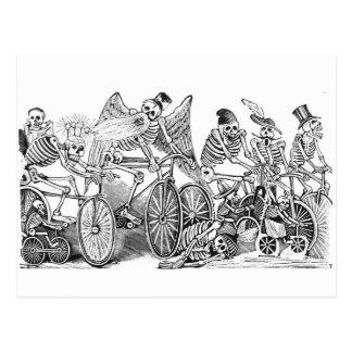 Cartão de Calavera dos ciclistas