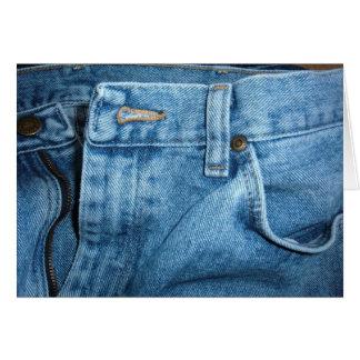 Cartão de calças de ganga