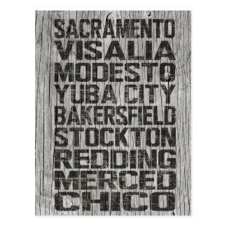 Cartão de Califórnia Central Valley