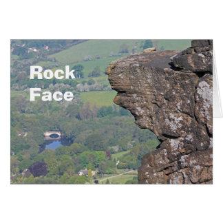 Cartão de cara da rocha