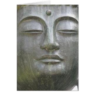 Cartão de cara de Buddha