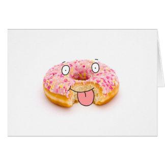 Cartão de caráter cor-de-rosa feliz bonito da