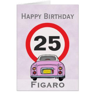 Cartão de carro de Figaro do rosa dos doces do