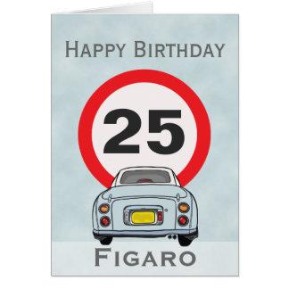Cartão de carro pálido de Figaro do Aqua do feliz
