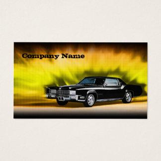 Cartão de carro preto clássico do tema da máfia