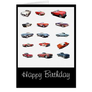 Cartão de carros do feliz aniversario