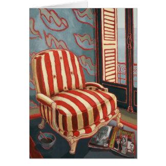 """Cartão De """"cartão da arte da cadeira Henris"""""""