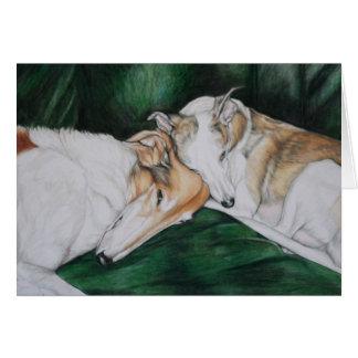 """Cartão De """"cartão da arte do cão Rosie & de Bailey"""""""