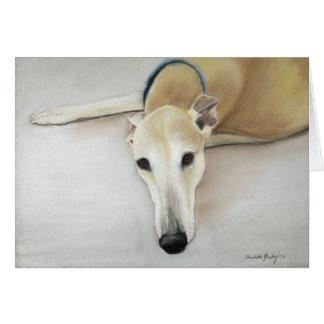"""Cartão De """"cartão da arte do cão Tan Greyhond"""""""