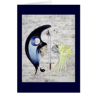 """Cartão De """"cartão da arte Yin e de Yang"""""""