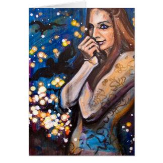"""Cartão De """"cartão da menina Gotham"""" - arte por Charis D"""