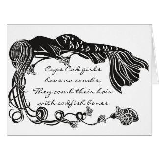 """Cartão De """"cartão da sereia das meninas Cape Cod"""""""