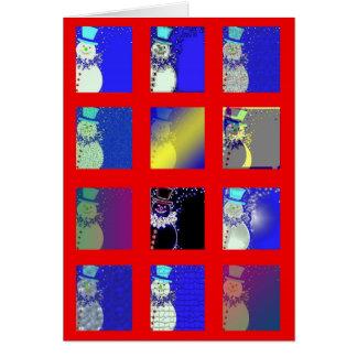 """Cartão De """"cartão de Natal doze bonecos de neve"""""""