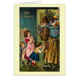 """Cartão De """"cartão de Natal francês do vintage do St."""