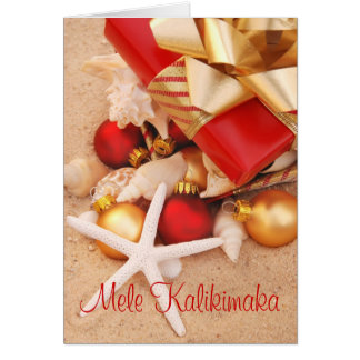 """Cartão De """"cartão de Natal morno do tempo Mele"""