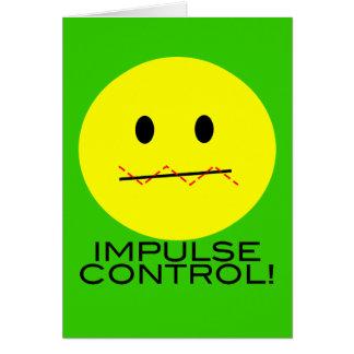 """Cartão de """"CARTÃO de SMILEY FACE do controle impulso"""""""