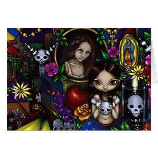 """Cartão De """"cartão Diâmetro de los Muertos"""""""