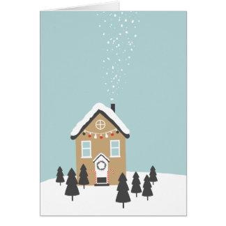 """Cartão De """"cartão do Natal da casa pão-de-espécie"""""""