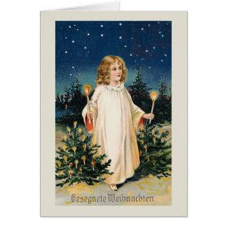 """Cartão De """"cartão do natal vintage Gesegnete Weihnachten"""""""