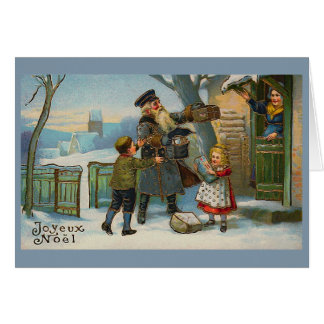 """Cartão De """"cartão do natal vintage Joyeux Noel """""""