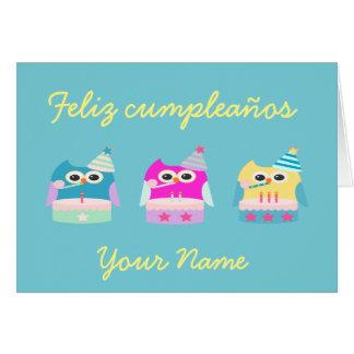 """Cartão De """"cartão dos cumpleaños Feliz/feliz aniversario"""""""