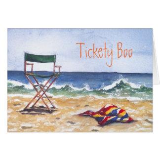 """Cartão De """"cartão & envelope da vaia Tickety"""""""