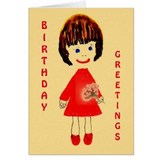 Cartão de cartões de aniversários