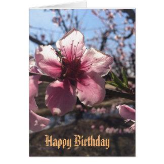Cartão de cartões de aniversários da flor do