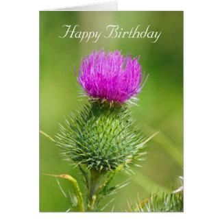 Cartão de cartões de aniversários feliz da flor co