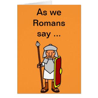 Cartão de cartões de aniversários feliz romano