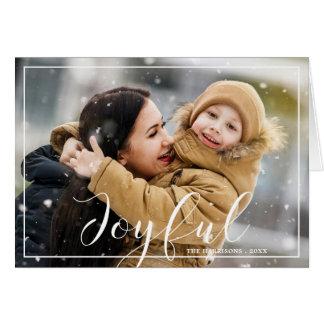 Cartão de cartões de natal alegre da foto das