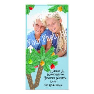 Cartão de cartões de natal alegre das palmeiras